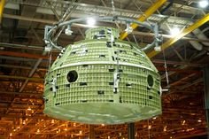 The Orion capsule ready for transport after its final weld at the Michoud Assembly Facility. Orion will reach an altitude 15 times farther away from Earth than the ISS. Upon reentry, it will endure temperatures up to 4,000 degrees F., higher than any human spacecraft since the moon missions.
