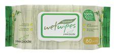 Flushable bamboo Wet Wipes