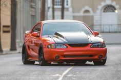 Hugger Orange 1998 Ford Mustang SVT Cobra Is One Slick Snake