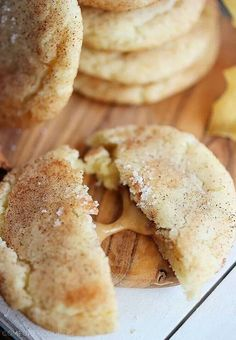 Peanut Butter Filled Snickerdoodles