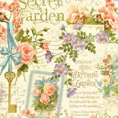 Graphic 45 - Secret Garden - Posy Patch in Ivory