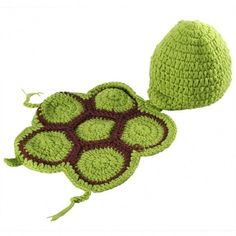Newborn Baby Tortoise Hat Infant Knit Crochet Photography Prop Hat Outfit