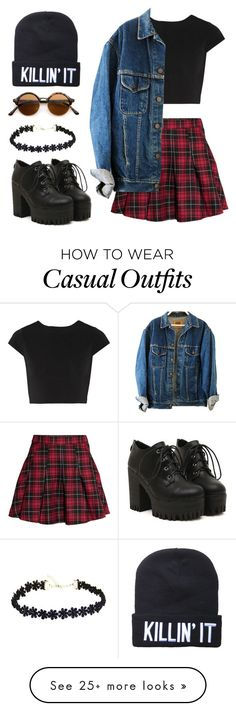 """Casual"" by gecko5 on Polyvore featuring H&M, Alice + Olivia, women's clothing, women's fashion, women, female, woman, misses and juniors"