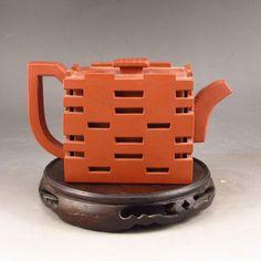 Chinese Yixing Zisha Clay Teapot w Artist Signature