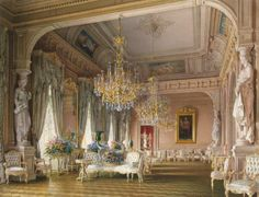 The Hermitage | Mansion of Baron A.L. Stieglitz. The White Drawing-Room by Premazzi ...