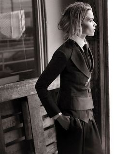 #modern #suits #tailoring Abbey Lee for Vogue Australia by Will Davidson