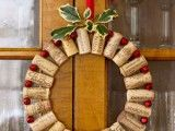Diy Wine Cork Christmas Wreath | Shelterness