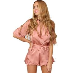 Like and Share if you want this  2016 Summer style satin ruffles elegant jumpsuit romper Deep v neck sexy playsuit Women pink bow short beach faux silk overalls     Tag a friend who would love this!     FREE Shipping Worldwide     Buy one here---> http://oneclickmarket.co.uk/products/2016-summer-style-satin-ruffles-elegant-jumpsuit-romper-deep-v-neck-sexy-playsuit-women-pink-bow-short-beach-faux-silk-overalls/
