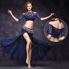 Cheap sexy belly dance, Buy Quality belly dance directly from China belly dance set Suppliers: New Lace Off shoulder Half sleeve Placketing Skirt Sexy Belly dance 2pcs set for women/female Dancer, costume performance FF7113