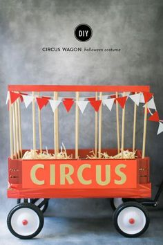 Create your own DIY circus wagon! Then you can put various stuffed animals in there to use as reading buddies. Decoration AND storage for the carnival or circus classroom theme. PERFECT!!