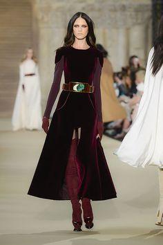 Stéphane Rolland - Fall-winter 2012-2013 - Burgundy silk velvet tzarina dress.