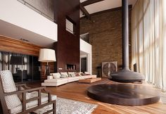 Impressive living room (Forester House, interior view)