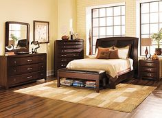 Rodea Bedroom Collection, I have the bed, dresser, and two nightstands. Wish I had the tall dresser and bench. Love it all!