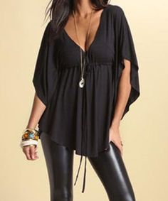 Women's Plunging Neck Line Bouse