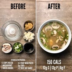 66 Insanely Healthy Recipes That Are Del. - 66 Insanely Healthy Recipes That Are Delicious - Healthy Meals For One, Healthy Snacks, Easy Meals, Healthy Eating, Healthy Drinks, Healthy Miso Soup, Tofu Miso Soup, Breakfast Healthy, Dinner Healthy