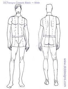 printable fashion design templates for men | Male Fashion Croquis ...