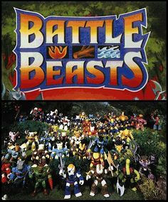 Battle Beasts - I used to love these guys. I still like to draw warrior animals to this day.