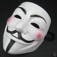 V For Vendetta Movie White Costume Mask Guy Fawkes Anonymous Halloween Cosplay - http://pandorasecretsonline.com/v-for-vendetta-movie-white-costume-mask-guy-fawkes-anonymous-halloween-cosplay-2/