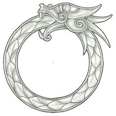 The ouroboros in its original Egyptian context symbolised repetition, renewal, and the eternal cycle of time.