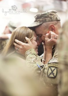 This sums it up for us perfectly. (Army Wife welcoming her husband after a year long deployment.)
