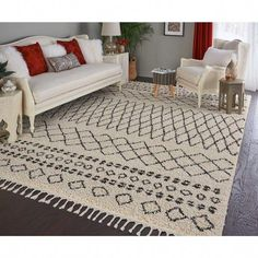 Nourison Moroccan Marrakesh Shag Cream Area Rug - x Gray Area Rug 8x10, 8x10 Area Rugs, White Area Rug, Home Decorators Rugs, Moroccan Bedroom, Online Home Decor Stores, Modern Rugs, Cool Rugs, Rugs In Living Room