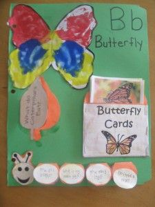 B is for Butterfly lapbook/notebook plus many other great butterfly activities