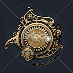 Steampunk interface player Royalty Free Stock Vector Art Illustration