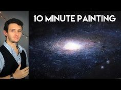 Painting a Galaxy and Stars with Acrylics in 10 Minutes! - YouTube