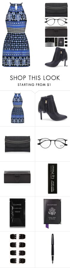 """""""Off"""" by juuliap ❤ liked on Polyvore featuring Ray-Ban, Smythson, Cleanse by Lauren Napier, Aspinal of London, Forever 21 and Fountain"""