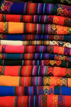 I have some textiles like this from Otovalo, Ecuador.  Made curtains out one... still have another.