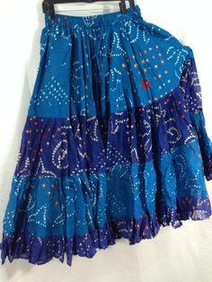 25 Yd JAIPUR SKIRT ATS Turquoise Purple - Magical Fashions