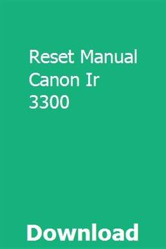 How to install canon ir3300 printer & setup scan to network folder