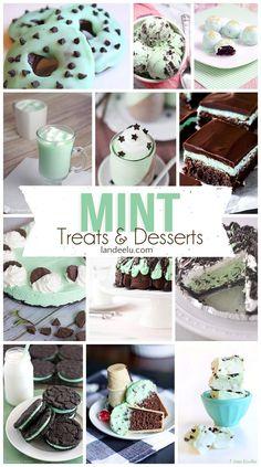 Mint Desserts and Treats Recipes and Tutorials -- the Yummiest Way to GO GREEN!   www.landeeseelandeedo.com: