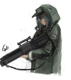 잠탱이 Anime Military, Military Girl, Character Art, Character Design, Delta Girl, Cool Anime Girl, Anime Weapons, Anime Art Fantasy, Anime Oc