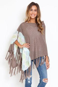 27 Miles Chumash 3 way poncho-scarf-wrap in seaglass
