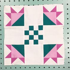 Contrary to the image in Issue 17 this is what Block 4 of the mystery BOM quilt, Flower Patch, should look like.