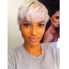 Pretty in Platinum: Messy Straight Bleach-Blonde Pixie Cut Pixie Hairstyles, Short Hairstyles For Women, Cute Hairstyles, Black Hairstyles, African Hairstyles, Hairstyle Ideas, Grey Hairstyle, Hairstyles 2016, Straight Hairstyles