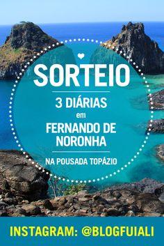 No instagram @blogfuiali está rolando um sorteio de 3 diárias pra 2 pessoas na Pousada Topázio, em FERNANDO DE NORONHA. Pra participar é só seguir as regras da foto oficial e torce pra ganhar!
