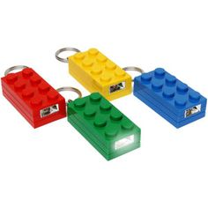 LEGO Brick Keychain with LED flashlight Lego Wedding, Online Toy Stores, Mini Things, Lego Brick, Led Flashlight, Have Some Fun, Legos, Cool Gifts, Stocking Stuffers