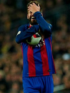 """sashapique: """""""" Gerard Pique Barcelona reacts during the Copa del Rey semi-final second leg match between FC Barcelona and Atletico de Madrid at Camp Nou on February 2017 in Barcelona, Spain. Gym Guys, Soccer Guys, Baseball Boys, Pique Barcelona, Fc Barcelona, Gerad Pique, Soccer Players Hot, Shakira And Gerard Pique, Sexy Military Men"""