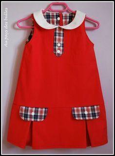 Pocket / pleat detai African Dresses For Kids, Little Girl Dresses, Girls Dresses, African Fashion, Kids Fashion, Dress Anak, Baby Dress Design, Baby Gown, Toddler Dress