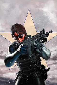 Winter Soldier by Steve Epting (Bucky Barnes) i like the idea of using a mask for the eyes Hq Marvel, Marvel Comics Art, Marvel Heroes, Marvel Cinematic, The Avengers, Batwoman, Bucky Barnes, Steve Rogers, Comic Book Characters