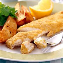 Fish and Chips Weight Watchers recipe 3 Stars Ratings (1) 8ProPoints Value Prep time: 18 min Cook time: 35 min Other time: 0 min Serves: 4 Put this great British speciality back on the menu with our lighter version using polenta for a crunchy batter. A perfect treat for the whole family.