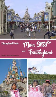 Disneyland Paris Park, the first of the two theme parks that in opened in Paris in 1992. It is divided into Main Street, USA and 4 other themed 'lands' named Fantasyland, Frontierland, Tomorrowland, and Adventureland .