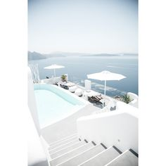 SANTORINI. WHERE TO STAY ❤ liked on Polyvore featuring backgrounds, photography, photos and filler