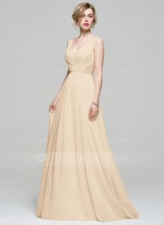 ... Floor-Length Ruffle Lace Beading Sequins Zipper Up Regular Straps  Sleeveless No Other Colors Spring Summer Fall General Plus Chiffon Bridesmaid  Dress 1cd87da1cb7d