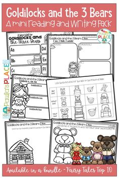 Goldilocks and The Three Bears Mini Reading and Writing Activities Reading Comprehension Strategies, Writing Strategies, Writing Resources, Teaching Writing, Daily 5 Activities, Guided Reading Activities, Writing Activities, Writing Posters, Writing Genres