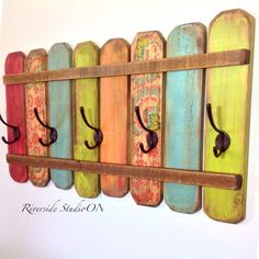 Wood Coat Rack OOAK Coat Hook / Shabby Cottage Beach Chic, Bohemian Furniture / Ships from Canada by RiversideStudioON on Etsy https://www.etsy.com/listing/221679719/wood-coat-rack-ooak-coat-hook-shabby