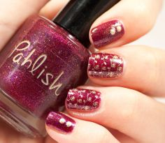 Valentine Polish Week, Pahlish Ghost of Christmas Present #valentinenails #valentinepolishweek #pahlish