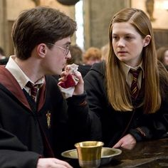 """I think she understands he isn't just the chosen one. And he isn't this special character. And I think that's kind of why they end up together. Gina Harry Potter, Harry E Gina, Harry Potter Couples, Harry Potter Ginny Weasley, Harry And Ginny, Harry Potter Pictures, Harry Potter Tumblr, Harry Potter Characters, Harry Potter Memes"